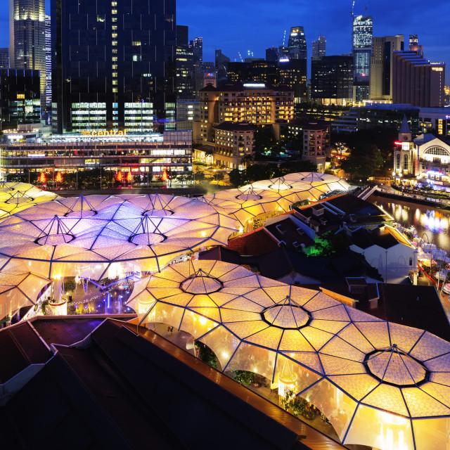 """South East Asia, Singapore, Clarke Quay"" stock image"