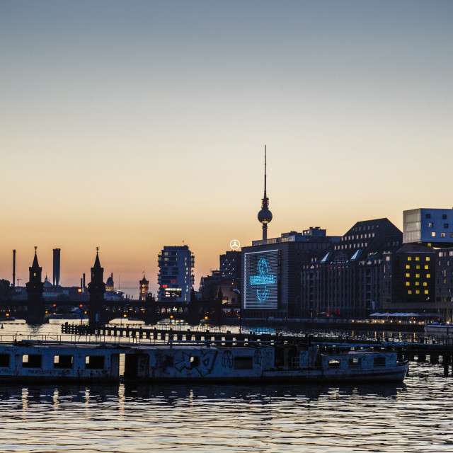 """Skyline of Berlin, Kreuzberg, Berlin, Germany."" stock image"