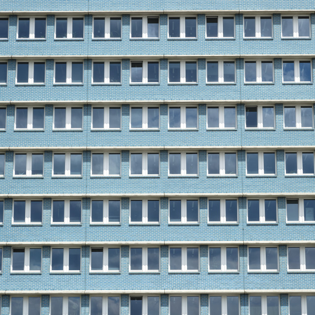 """""""Stalinist architecture of apartment building on Karl Marx Allee,..."""" stock image"""