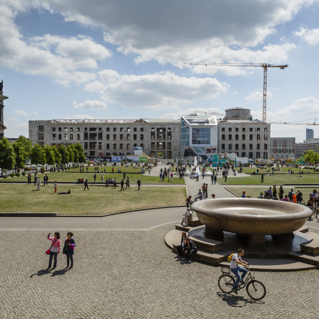 """View over the the Lustgarten (Pleasure Garden) at the Museumsinsel (Museum..."" stock image"