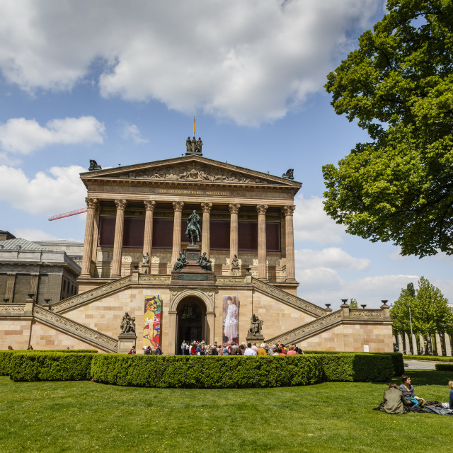 """Alte Nationalgalerie (Old National Gallery) at the Museumsinsel (Museum..."" stock image"