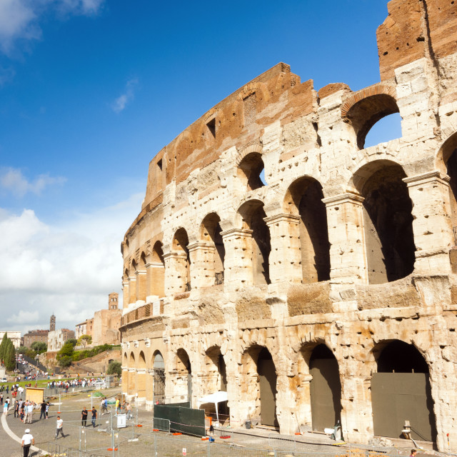 """Colosseum or Flavian Amphitheatre, Rome, Unesco World Heritage Site, Latium,..."" stock image"