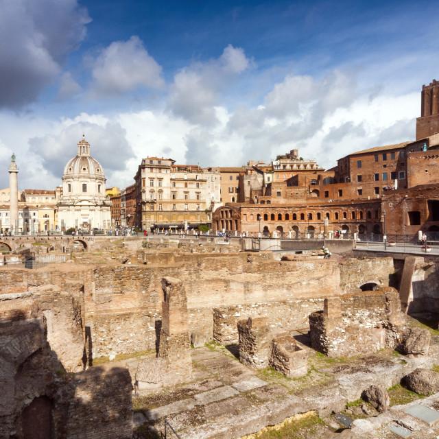 """Trajan's Forum, Rome, Unesco World Heritage Site, Latium, Italy, Europe,"" stock image"