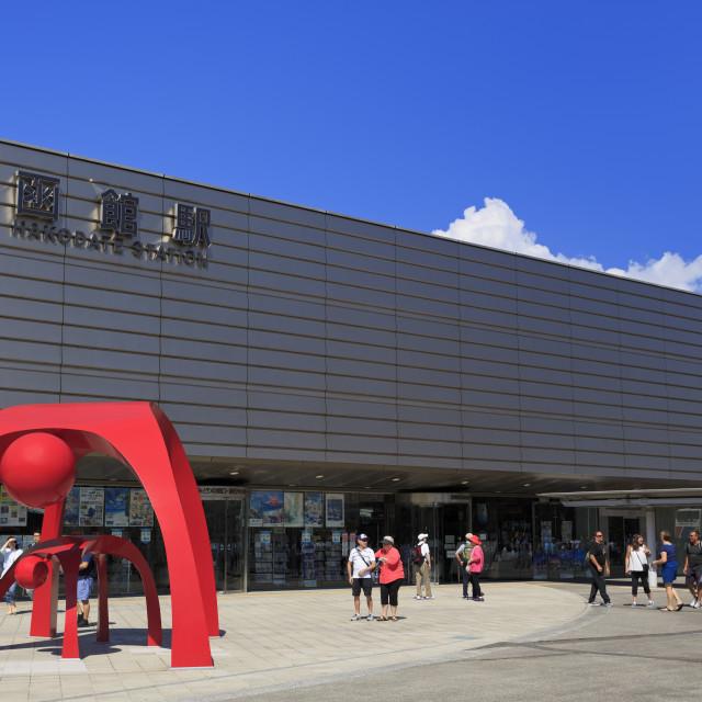 """JR Station, Hakodate City, Hokkaido Prefecture, Japan, Asia"" stock image"