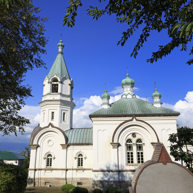 """Russian Orthodox Church, Hakodate City, Hokkaido Prefecture, Japan, Asia"" stock image"