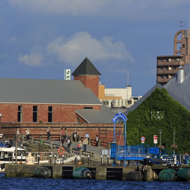 """Red Brick Warehouse District, Hakodate City, Hokkaido Prefecture, Japan, Asia"" stock image"