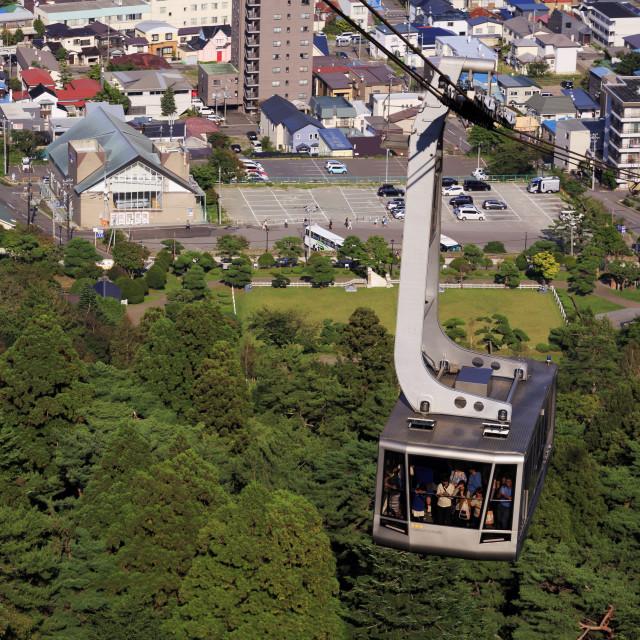 """Ropeway, Hakodate City, Hokkaido Prefecture, Japan, Asia"" stock image"