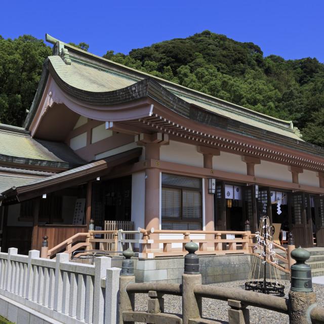"""Terukuni Shrine, Kagoshima City, Kyushu Island, Japan, Asia"" stock image"