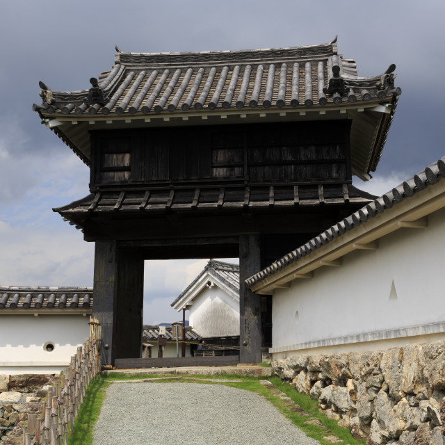 """Kochi Castle Gate, Kochi City, Shikoku Island, Japan, Asia"" stock image"