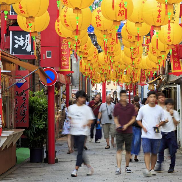 """Chinatown, Nagasaki, Kyushu Island, Japan, asia"" stock image"