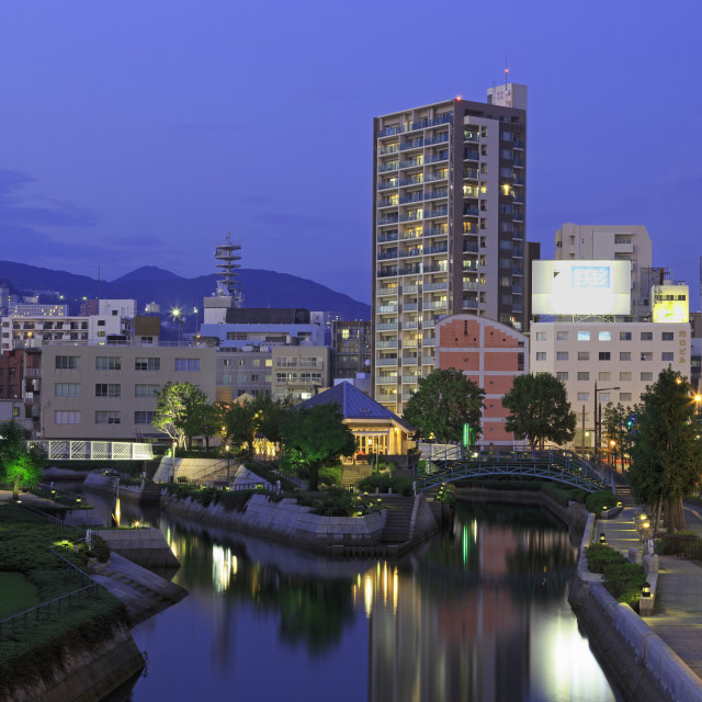 """Nakashima River, Nagasaki, Kyushu Island, Japan, asia"" stock image"