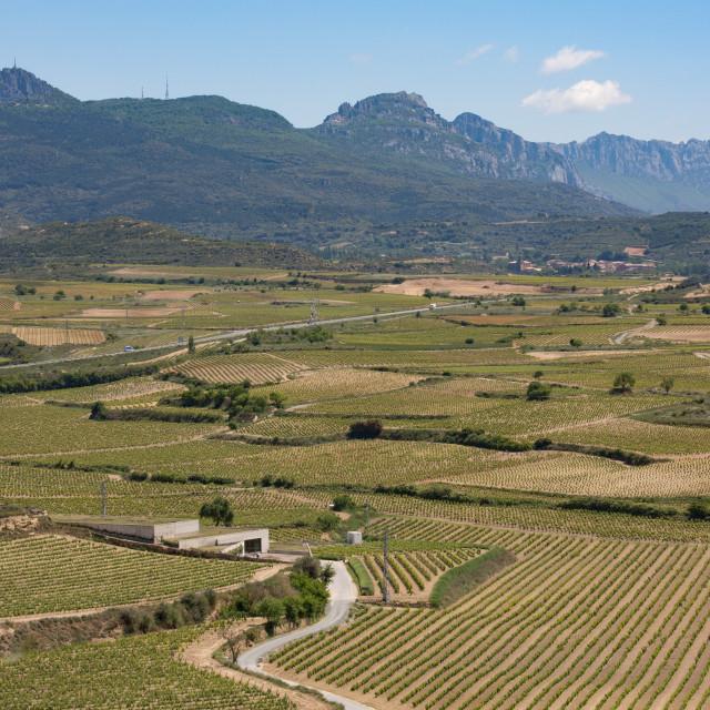 """Sierra de Cantabria mountains near San Vicente de la Sonsierra, La Rioja,..."" stock image"