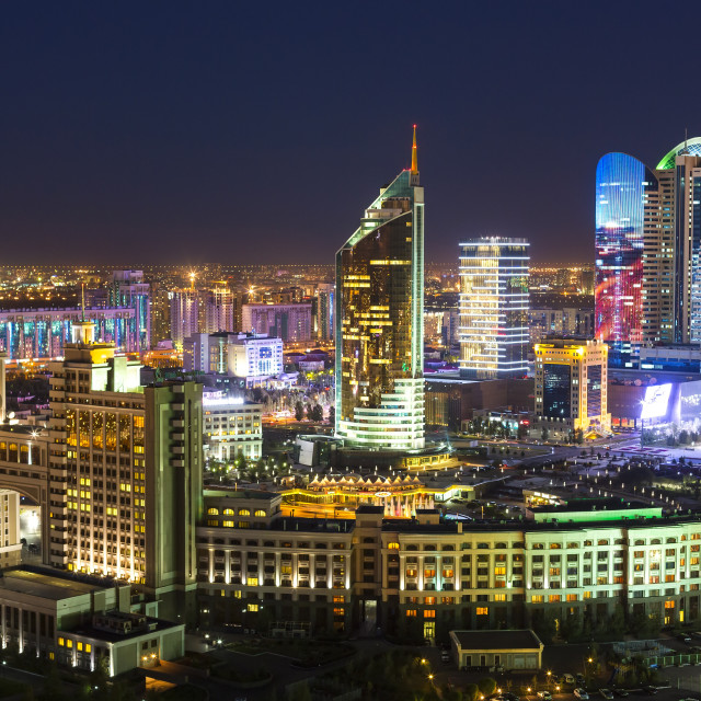 """""""Central Asia, Kazakhstan, Astana, the city center and central business district"""" stock image"""