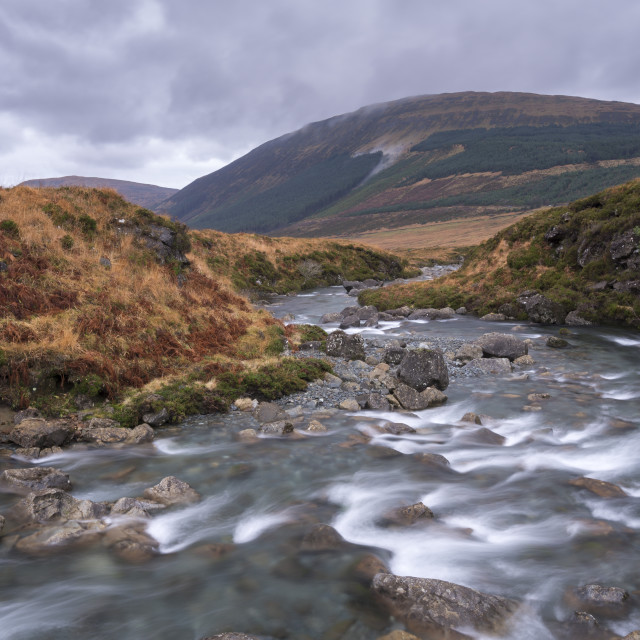 """""""River Brittle running through the Fairy Pools in Glen Brittle on the Isle of..."""" stock image"""