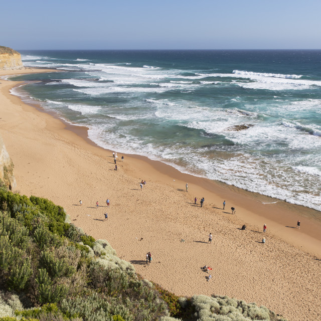 """""""Beach at Gibson Steps, Port Campbell National Park, Great Ocean Road,..."""" stock image"""