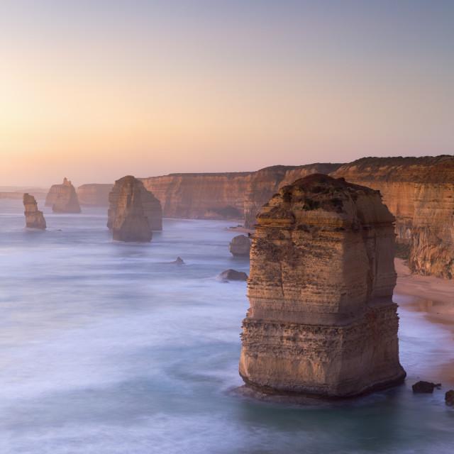 """Twelve Apostles, Port Campbell National Park, Great Ocean Road, Victoria,..."" stock image"