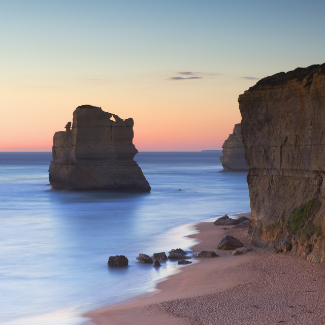 """""""Stacks of Twelve Apostles at Gibson Steps, Port Campbell National Park, Great..."""" stock image"""