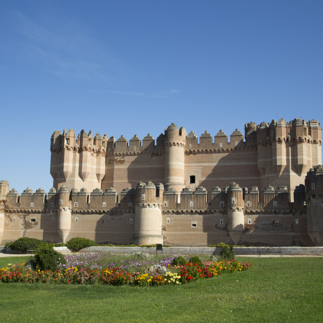 """Castle of Coca, built 15th Century, Coca, Segovia, Spain"" stock image"