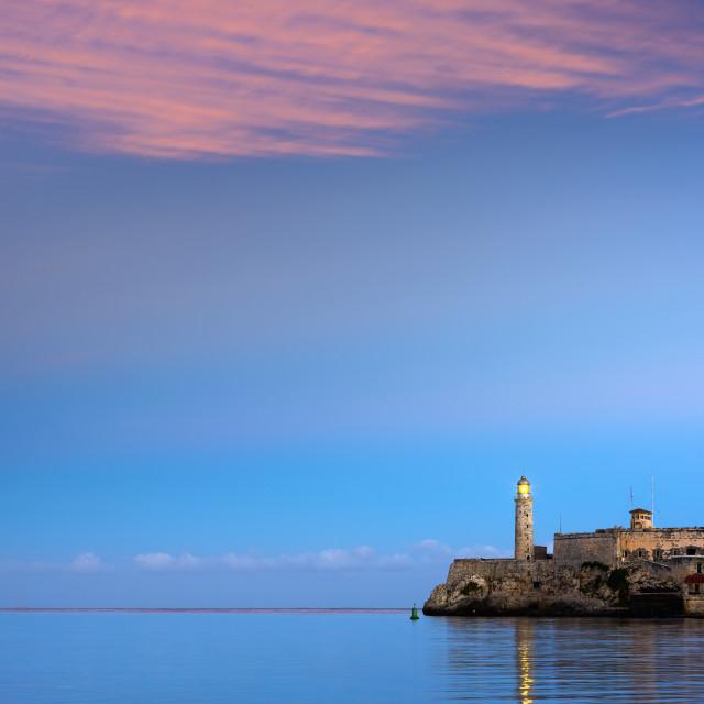 """""""Cuba, Havana, Castillo del Morro (Castillo de los Tres Reyes del Morro)"""" stock image"""