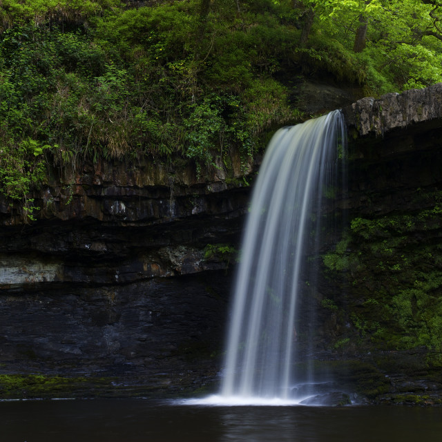 """Sgwd Gwladus, near Ystradfellte, Brecon Beacons National Park, Wales, UK, GB,..."" stock image"