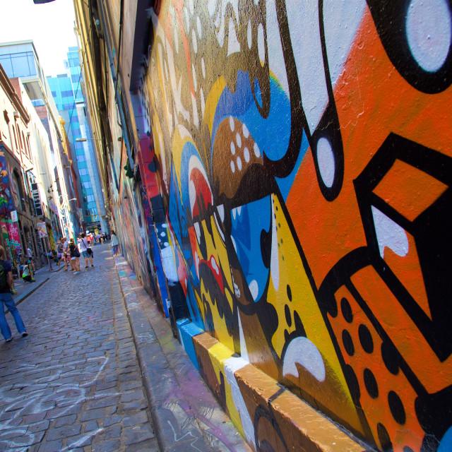 """""""Australia, Victoria, Melbourne, Graffiti in Central District"""" stock image"""