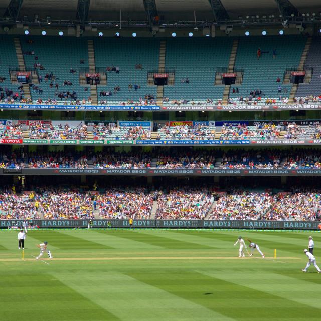 """Australia, Victoria, Melbourne, Melbourne Cricket Ground Test Match"" stock image"