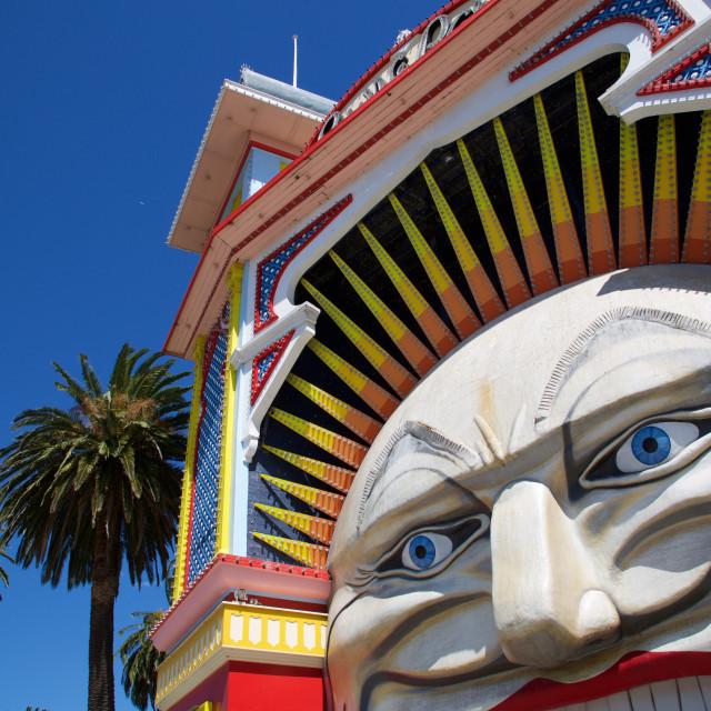 """Australia, Victoria, Melbourne, St Kilda, Luna Park Entrance"" stock image"