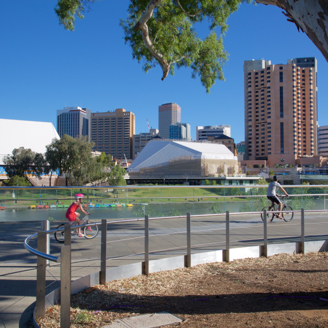 """""""Australia, South Australia, Adelaide, View of City from Adelaide Oval"""" stock image"""