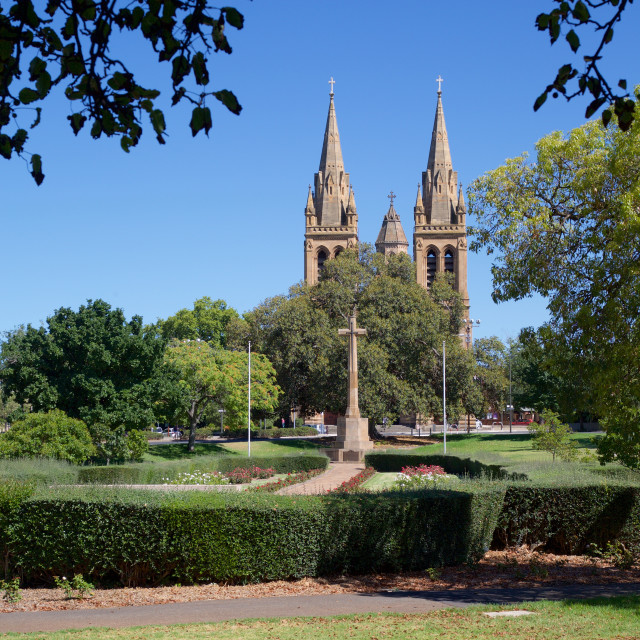 """Australia, South Australia, Adelaide, St Peter's Cathedral"" stock image"