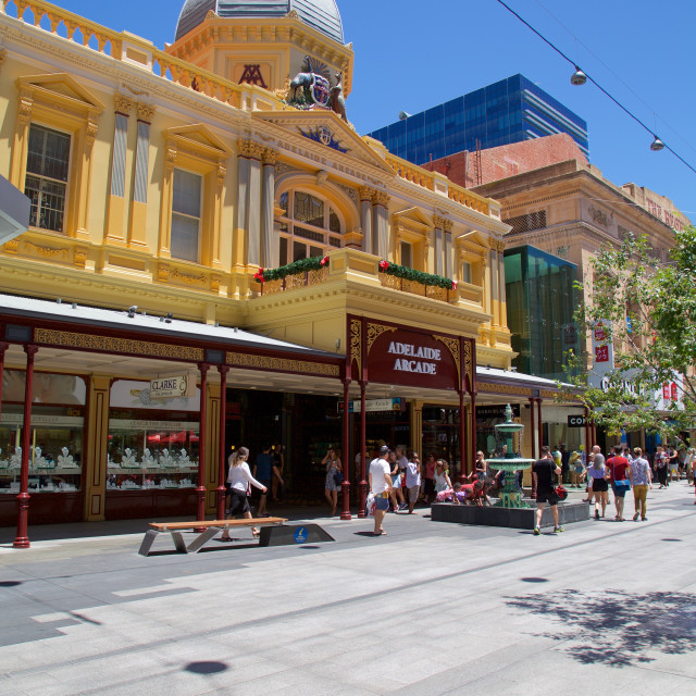 """Australia, South Australia, Adelaide, The Adelaide Arcade"" stock image"