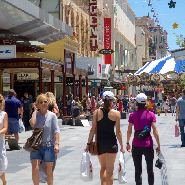 """Australia, South Australia, Adelaide, Rundle Mall"" stock image"