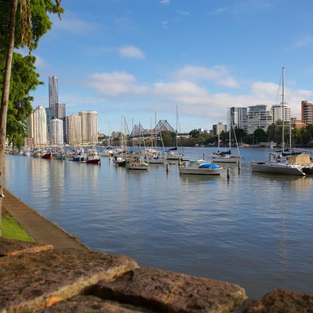 """Australia, Queensland, Brisbane, Brisbane River and Story Bridge"" stock image"