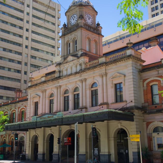 """""""Australia, Queensland, Brisbane, Central Station"""" stock image"""