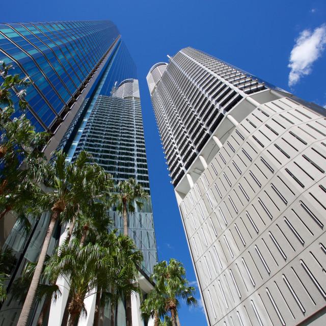 """Australia, Queensland, Brisbane, City Skyscrapers"" stock image"