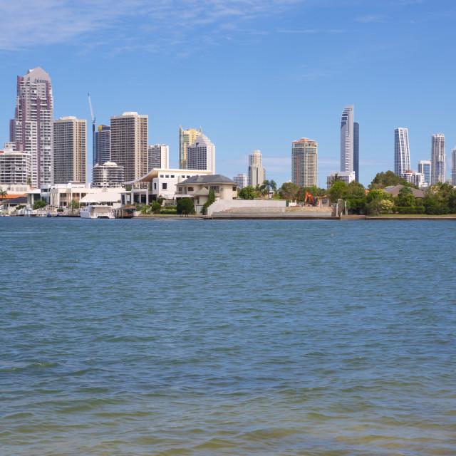 """Australia, Queensland, Gold Coast, Surfers Paradise"" stock image"