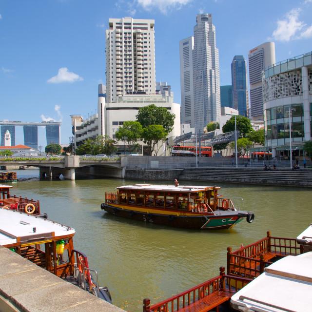 """Asia, South Asia, Singapore, Clarke Quay"" stock image"