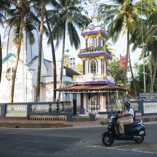 """Fort Kochi (Cochin), Kerala, India"" stock image"