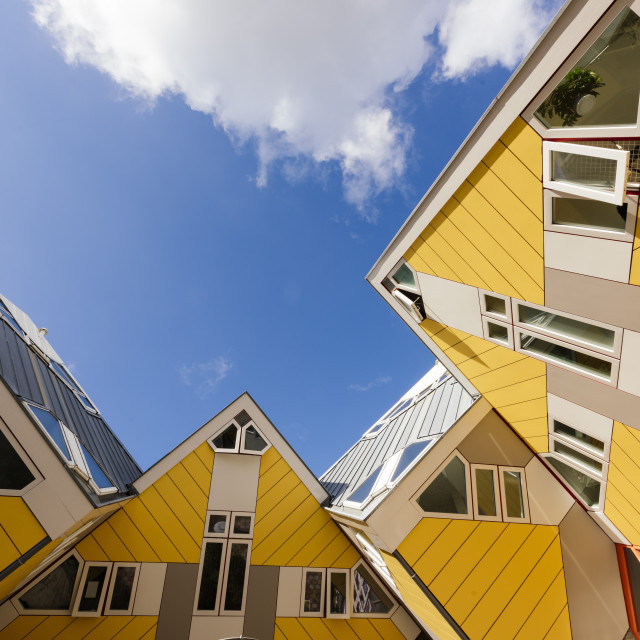 """Cube Houses - 'Blaakse Bos', Oudehaven, Rotterdam, Netherlands"" stock image"