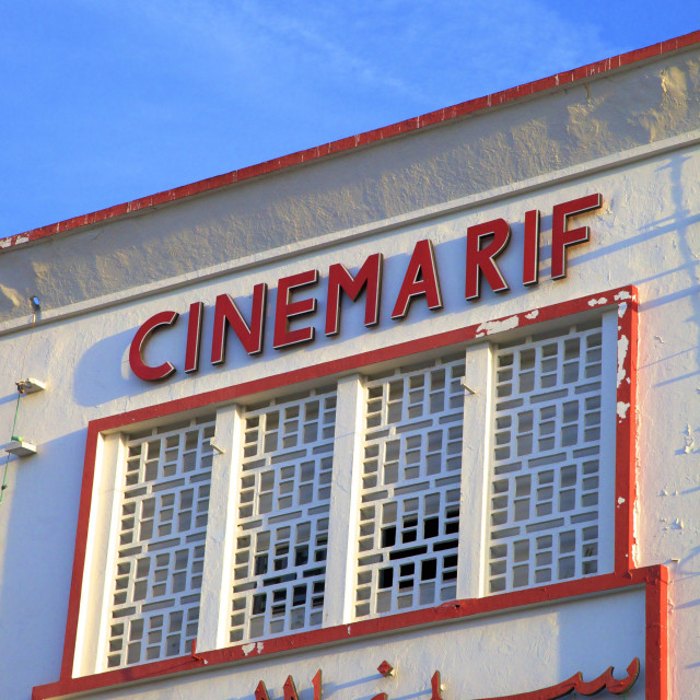 """Cinema Rif, Grand Socco, Tangier, Morocco, North Africa, Africa"" stock image"