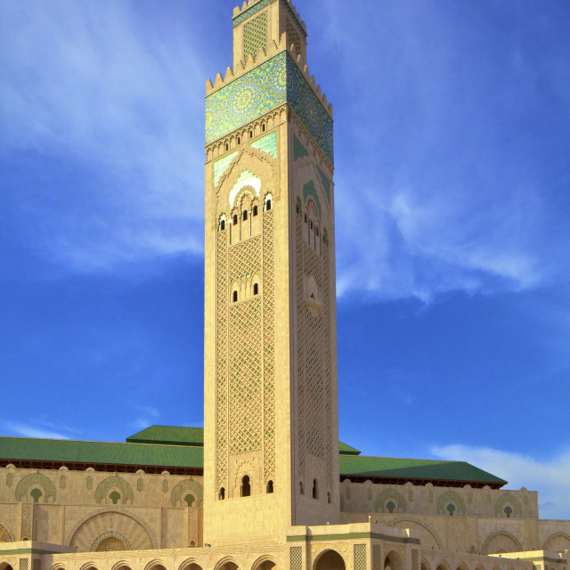 """""""Exterior of Hassan ll Mosque, Casablanca, Morocco, North Africa, Africa"""" stock image"""