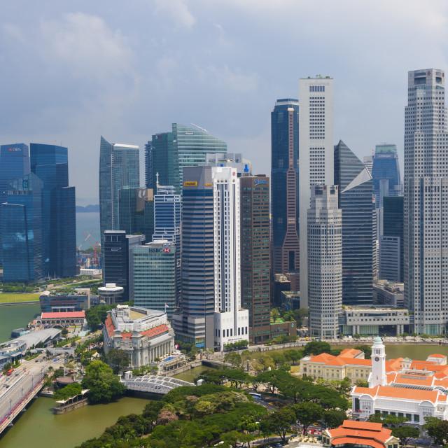 """Downtown center financial district, Singapore, Southeast Asia, Asia"" stock image"