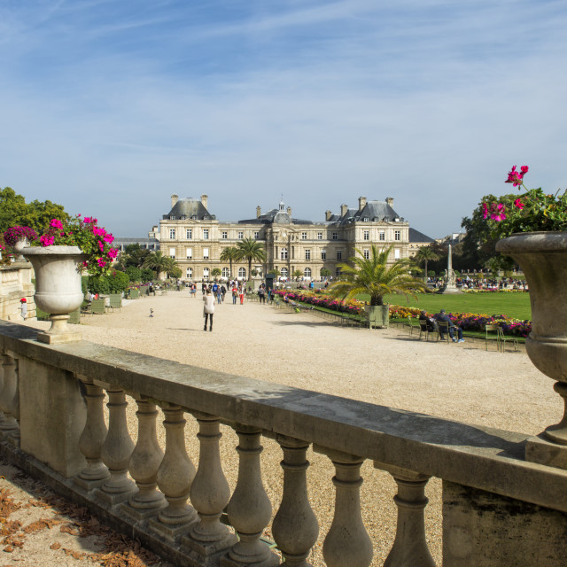 """""""Luxembourg Palace and Gardens, Paris, France, Europe"""" stock image"""