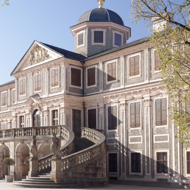 """""""Schloss Favorite Castle, Rastatt, Black Forest, Baden-Wurttemberg, Germany,..."""" stock image"""