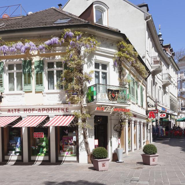 """Pedestrian area, Baden-Baden, Black Forest, Baden-Wurttemberg, Germany, Europe"" stock image"