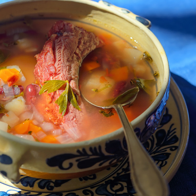 """""""Traditional Meat stew with vegetables"""" stock image"""