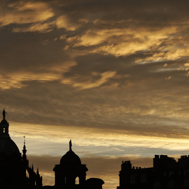 """Dawn over Edinburgh"" stock image"