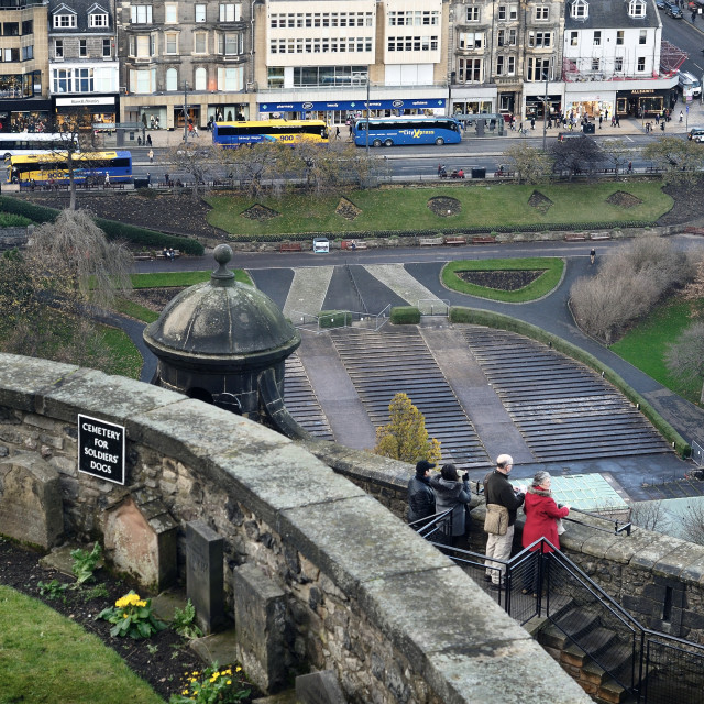 """View from Edinburgh castle"" stock image"