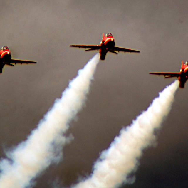 """Red Arrows trio"" stock image"