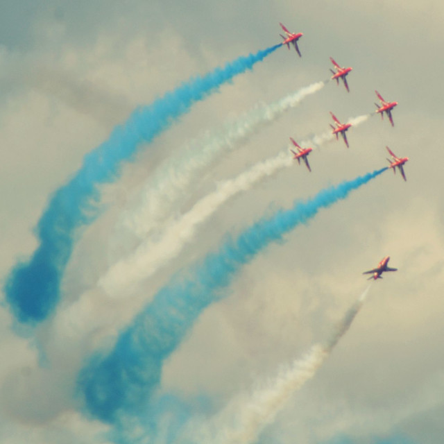 """""""Red Arrows mid display"""" stock image"""