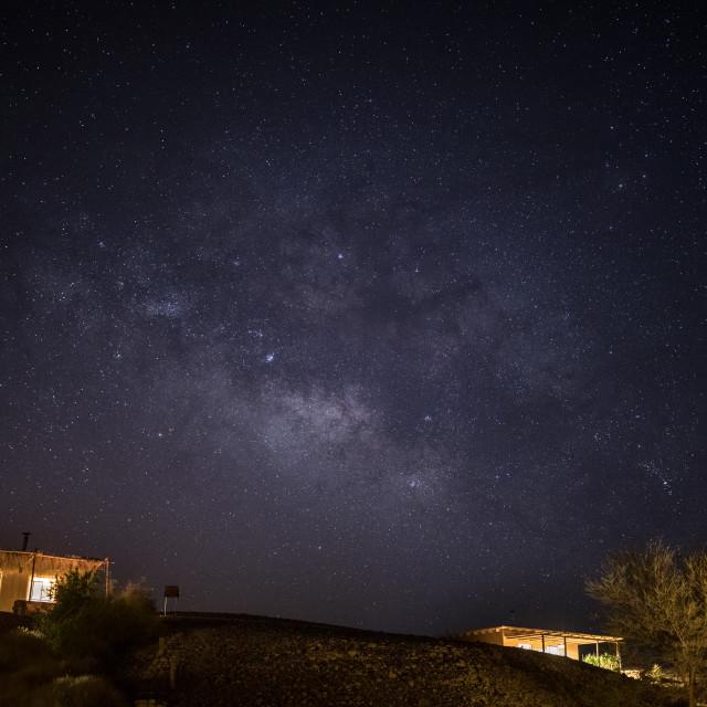 """Desert Huts Starscape"" stock image"